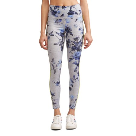 EV1 from Ellen DeGeneres Floral Side Stripe Legging Women's (Indigo/Grey)