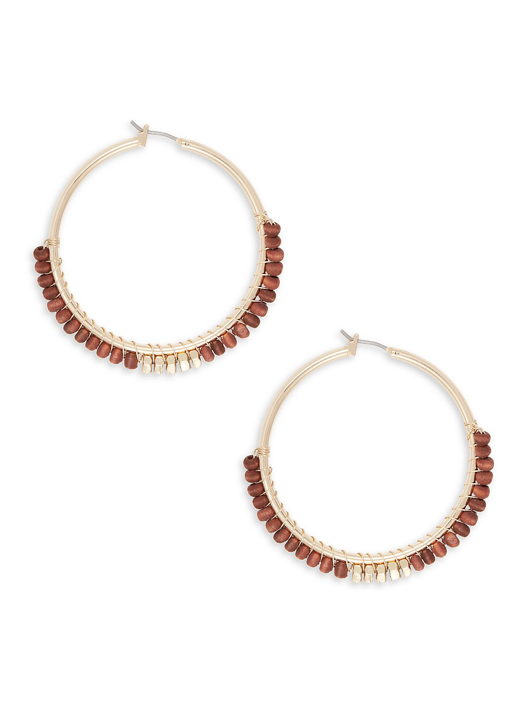 Berry Beaded Hoop Earrings
