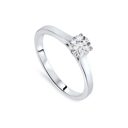 5/8ct Round Solitaire Diamond Engagement Ring 14 White Gold With Accents Jewelry - image 2 of 3