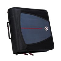 Case It 1580679 Mighty Zip Tab O-Ring Binder with Tabs - Black, 3 in.