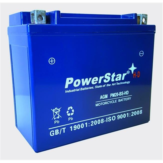 powerstar pm20-bs-hd-555 ytx20-bs motorcycle battery for harley