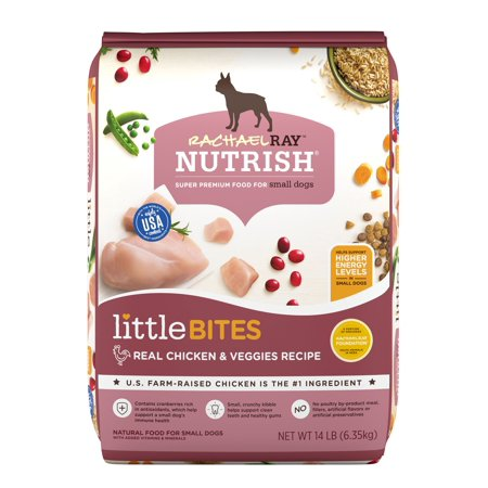 Rachael Ray Nutrish Little Bites Small Breed Natural Dry Dog Food, Real Chicken & Veggies Recipe, 14