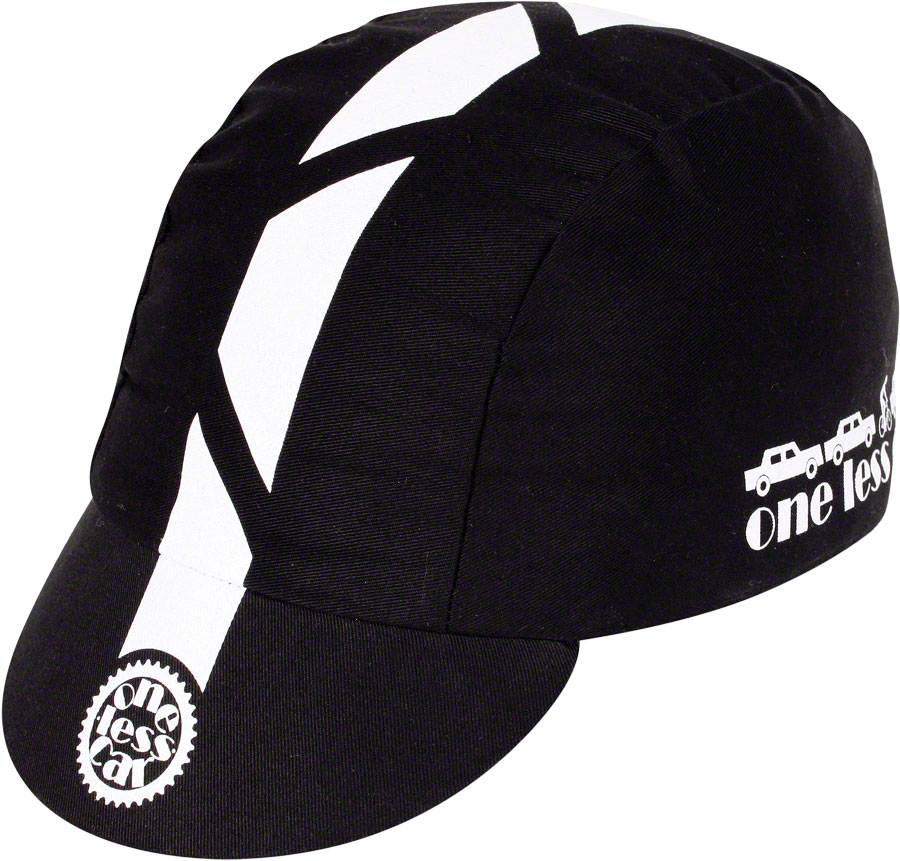 Pace Sportswear Traditional One Less Car Cycling Cap: Black