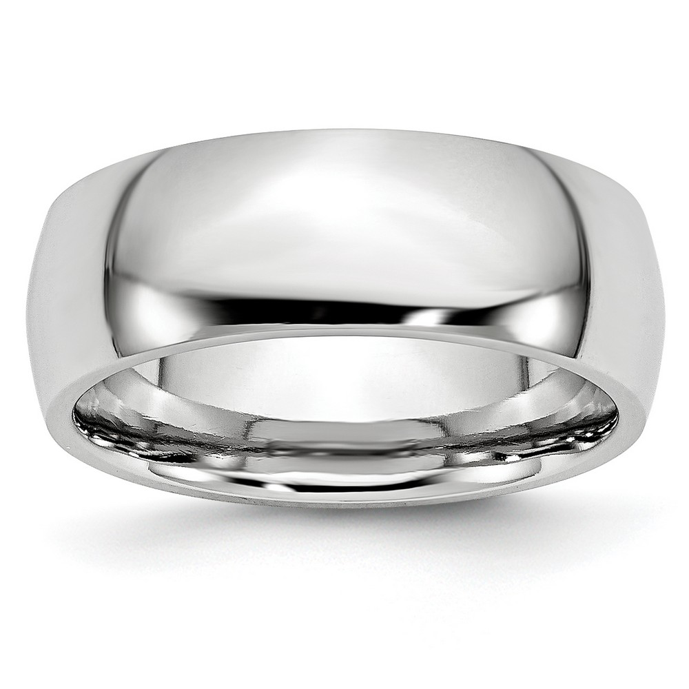 Sanrio Mens Cobalt Polished 8mm Wedding Band Ring Size 13