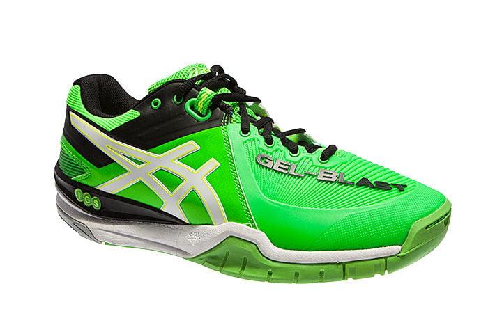 ASICS Asics Men's Gel Blast 6 Indoor Court Shoe E413Y 7001 (GreenWhiteBlack, 14 D(M) US)