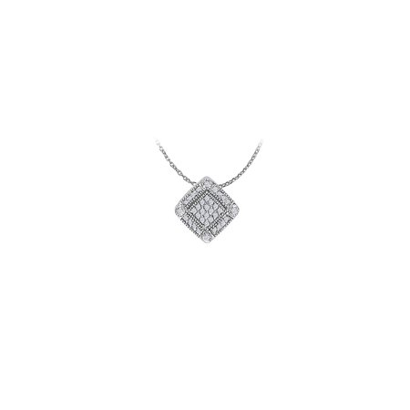 Pretty Cubic Zirconia Flower Pendant in 925 Sterling Silver Available at Most Affordable Price - image 2 de 2