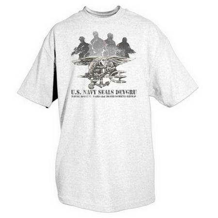 Fox Outdoor 63-999 XXL U. S.  Navy Seals Imprint T-Shirt - White, XXL