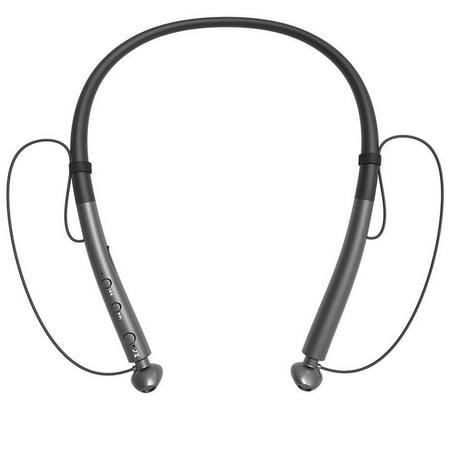 5cda7bdb87e Bluetooth Headphones Retractable Earbuds Neckband Wireless Headset Sport  Sweatproof Earphones with Mic (Bluetooth 4.1,Noise Cancelling) (Gray) -  Walmart.com
