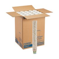 Dixie PerfecTouch 8 oz. Insulated Paper Hot Coffee Cup, 5338CD, 1,000 Count (50 Cups Per Sleeve, 20 Sleeves Per Case)