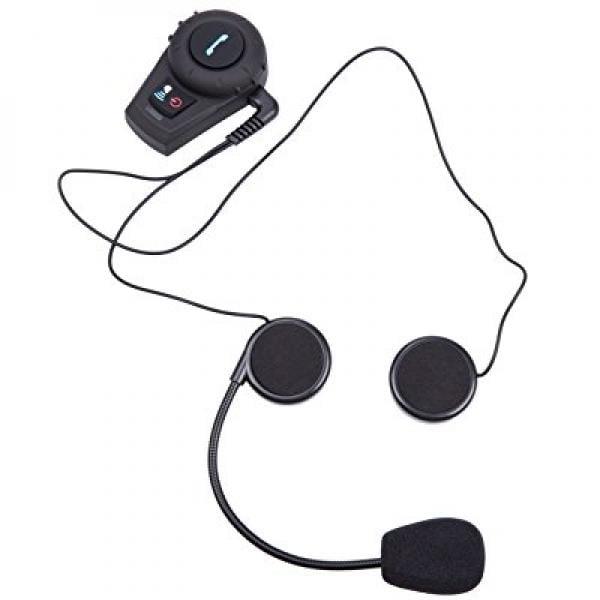 Amgaze Motorcycle Communication Headset Helmet Bluetooth ...
