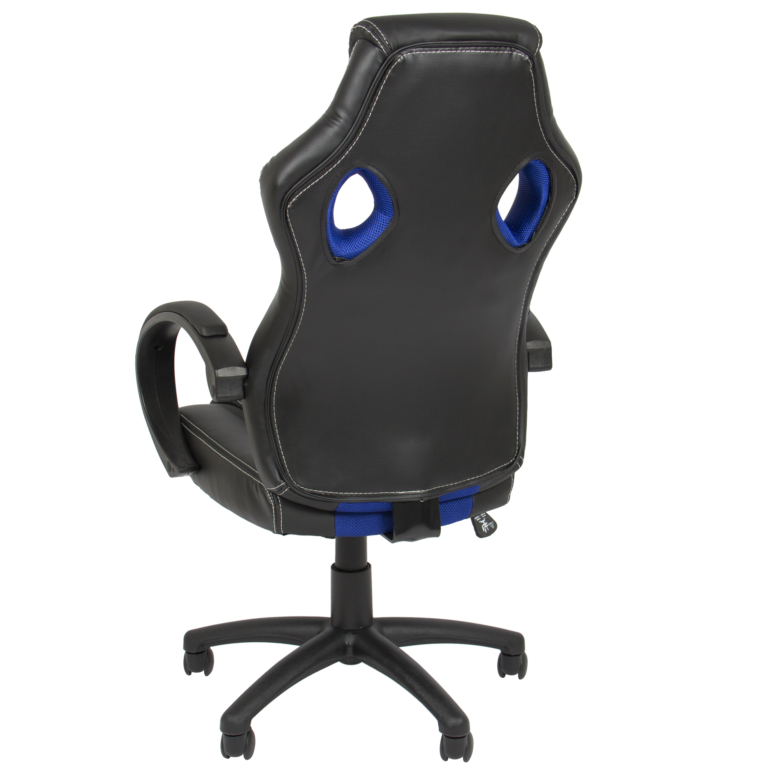 Executive Racing Office Chair Pu Leather Swivel Computer Desk Seat High Back Blue