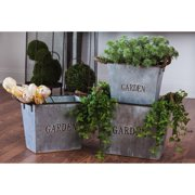 Evergreen Nested Metal Planters - Set of 3