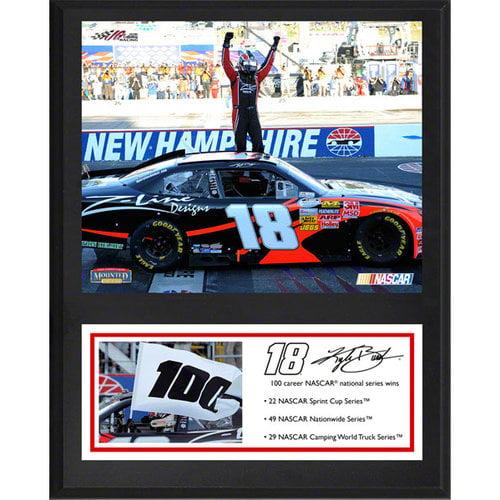 Kyle Busch Sublimated 12x15 Player Plaque   Details: NASCAR 100th Win