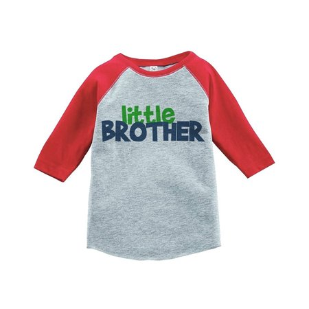 Custom Party Shop Boy's Novelty Little Brother Baseball Tee - Red and Blue / 5 - Buy Custom