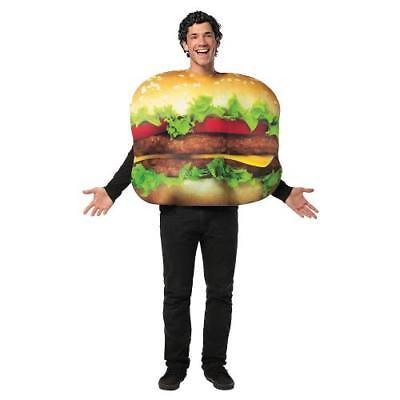IN-13687478 Cheeseburger Halloween Costume for Adults  By Fun - Cheeseburger Costumes