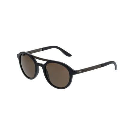 Giorgio Armani AR8095-504273-49 Black Oval (Giorgio Armani Prescription Sunglasses)