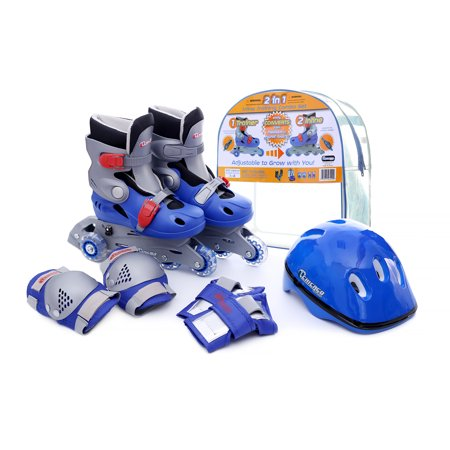 Chicago Boys' Adjustable Inline Training Skate Combo Set Blue/Black/Gray, Size J10-J13](Boys Snake)