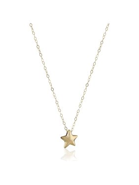 """Petite Expressions  Star Pendant Necklace in 14kt Gold, 17"""""""