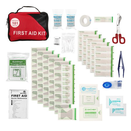 101PCS Safe Travel First Aid Kit Camping Hiking Medical Emergency Kit Treatment Pack Set Outdoor Wilderness Survival
