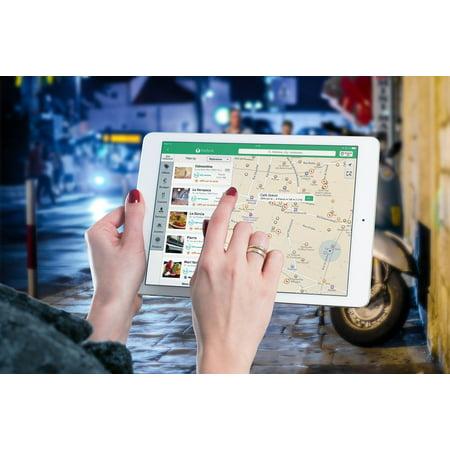 LAMINATED POSTER Ipad Internet Screen Map Tablet Multimedia Poster Print 24 x 36