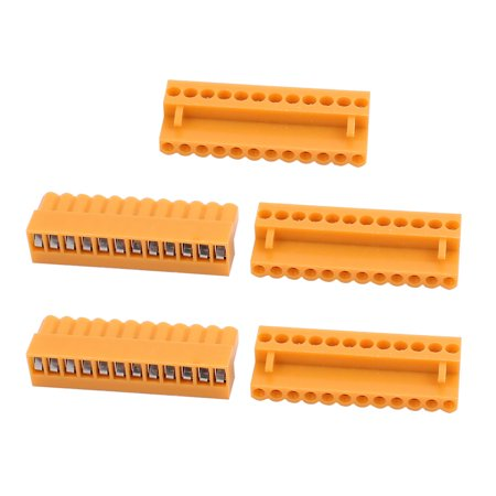 5Pcs 300V HT3 96K 3 96mm Pitch 12P PCB Screw Terminal Block Connector