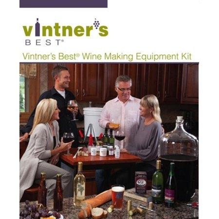 Vintners Best Wine Equipment Kit with Double Lever (100 Best Wine Kits)