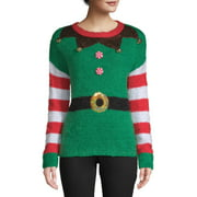 Holiday Time Women's Elf Ugly Christmas Sweater