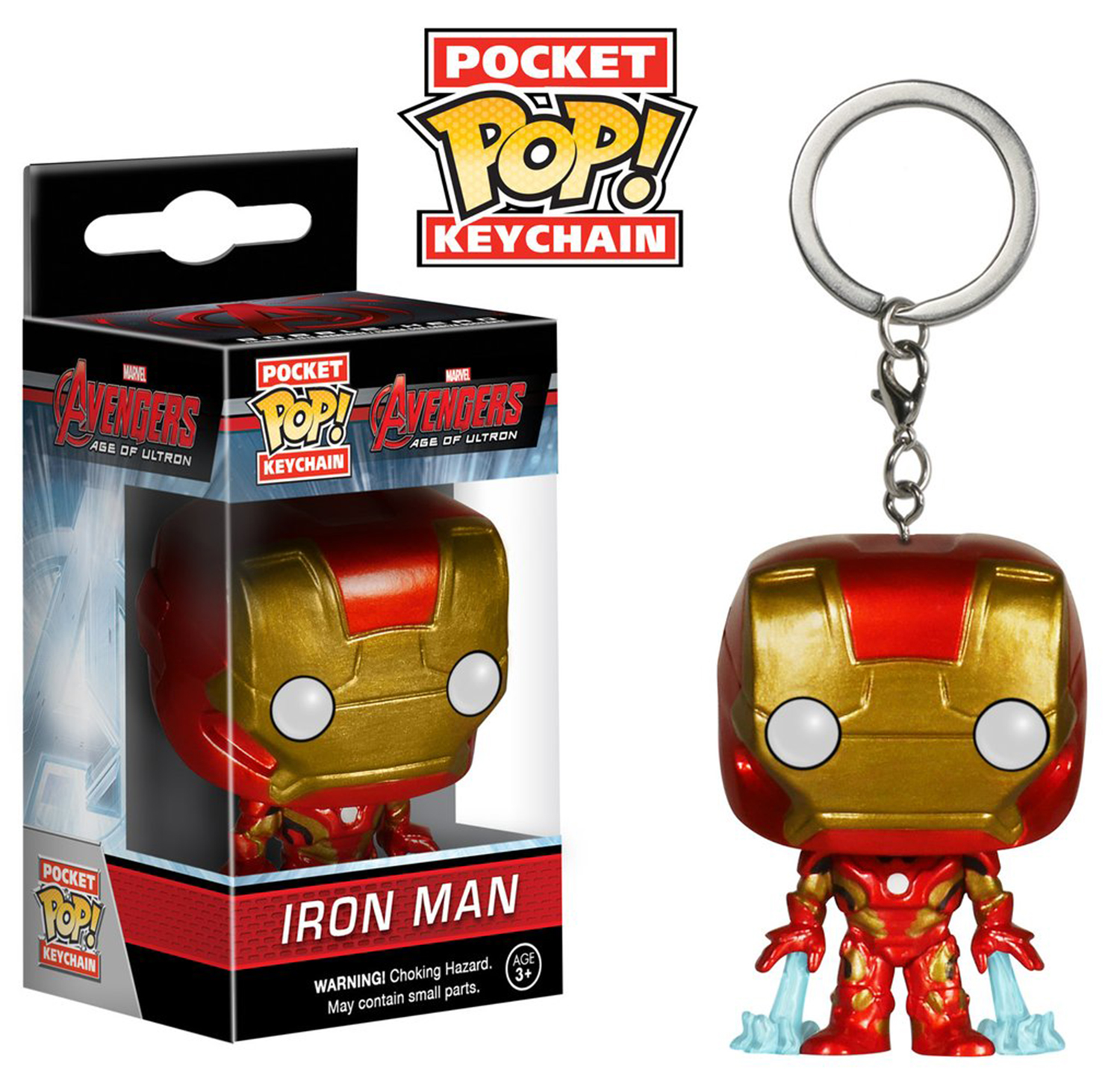Collectible Toy Funko Avengers Age of Ultron Iron Man Pocket Pop! Key Chain (Multipack of 3)