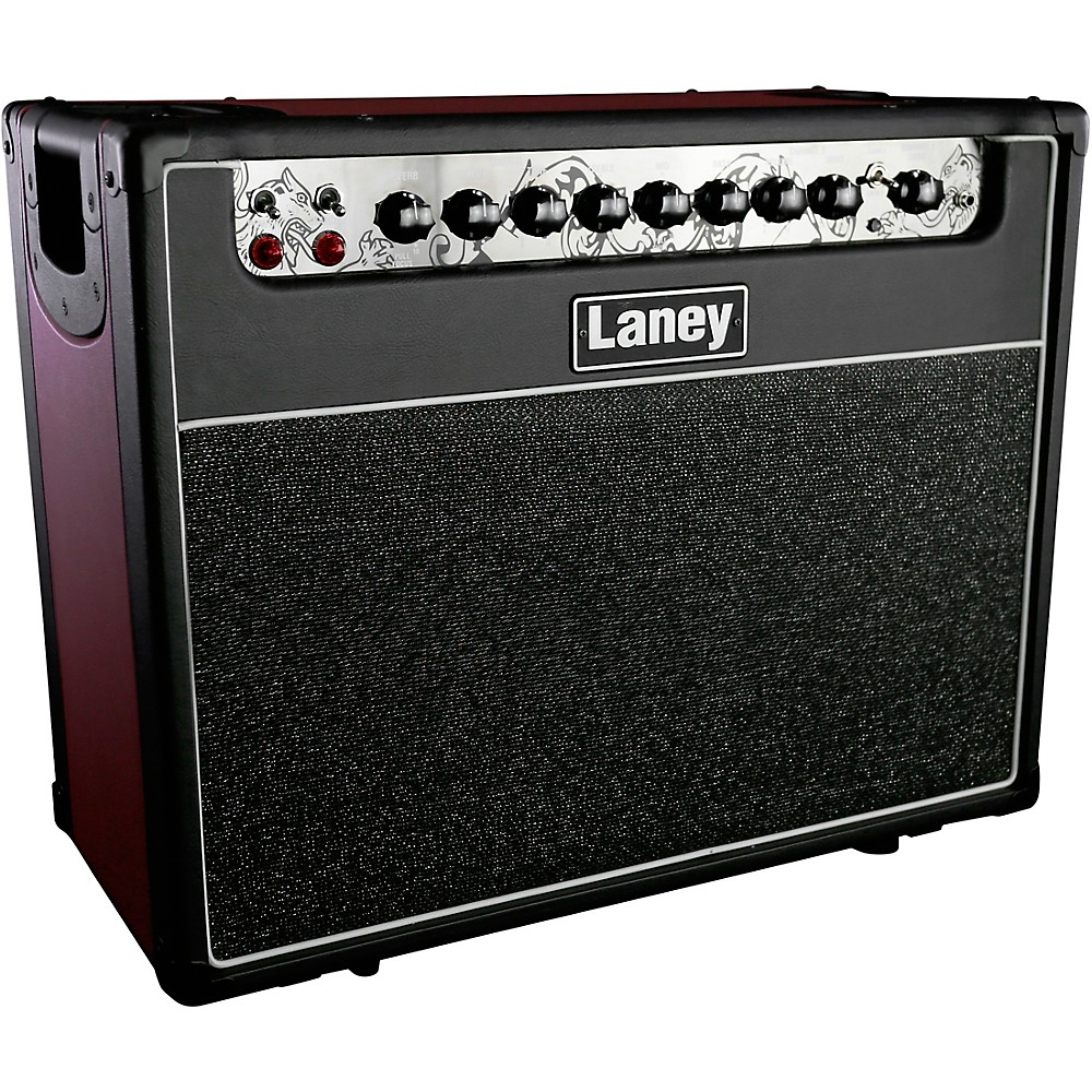 Laney GH30R-112 30W 1x12 Tube Guitar Combo Amp Black and Red