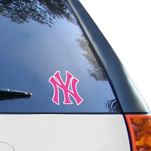 WinCraft New York Yankees 4'' x 4'' Color Perfect Cut Decal - Pink - No Size