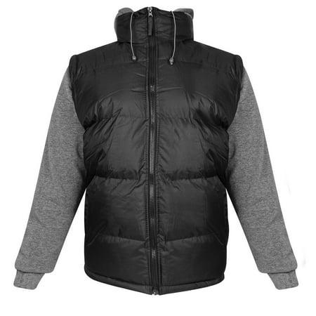 Perida Mens Black Puff Vest Jacket