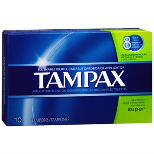 Tampax Tampons Super 10 Each (Pack of 3)