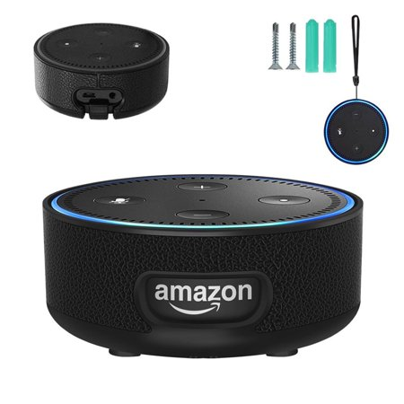 Echo Dot Wall Mount Case Holder Stand for Echo Dot 2nd Generation with  Wrist Strap Screws