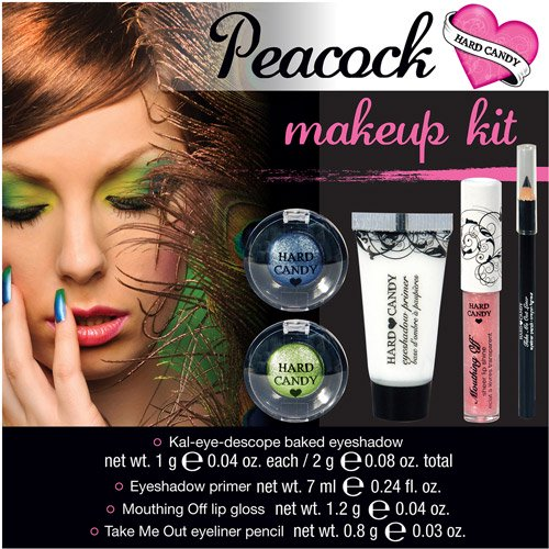 hard candy peacock halloween makeup kit 1ct walmartcom