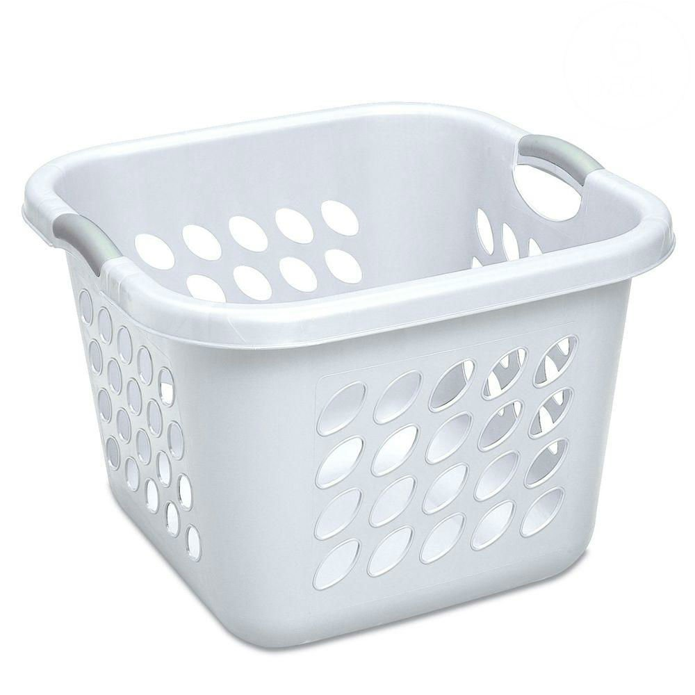 "12178006 Laundry Basket, 19"", White, Ultra Laundry Baskets feature contemporary design and sturdy construction By STERILITE"
