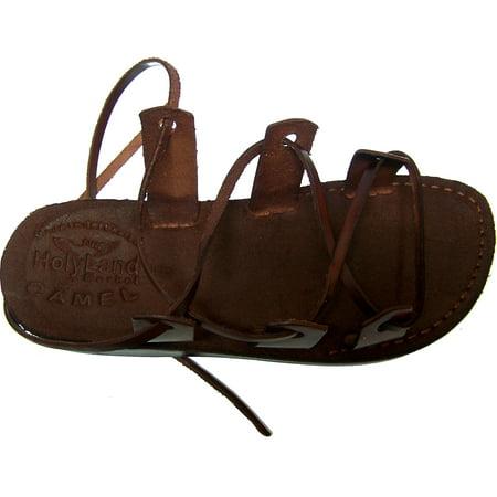 Holy Land Market  Genuine Leather Suede Bottom Biblical Sandals (Jesus) Suede V