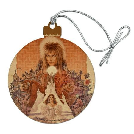 Labyrinth Movie Art Goblin King Jareth David Bowie Wood Christmas Tree Holiday Ornament ()