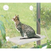 Cat Bed, Cat Window Perch Window Seat Suction Cups Space Saving Cat Hammock Pet Resting Seat Safety Cat Shelves - Providing All Around 360 Sunbath for Cats Weightedup to 50lb, Tan