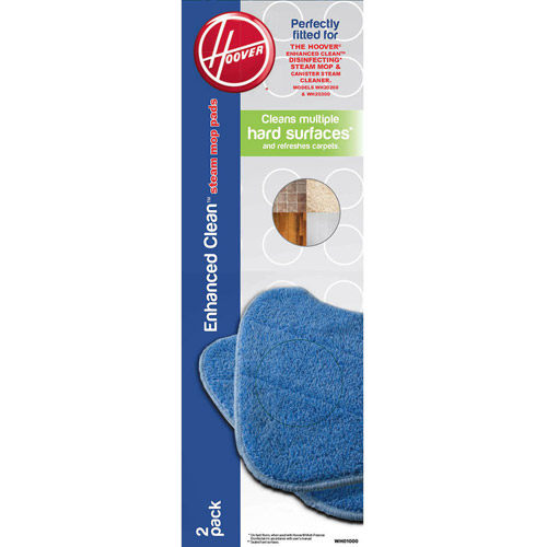 Hoover Enhanced Clean Steam Mop Pads (2-Pack), WH0100