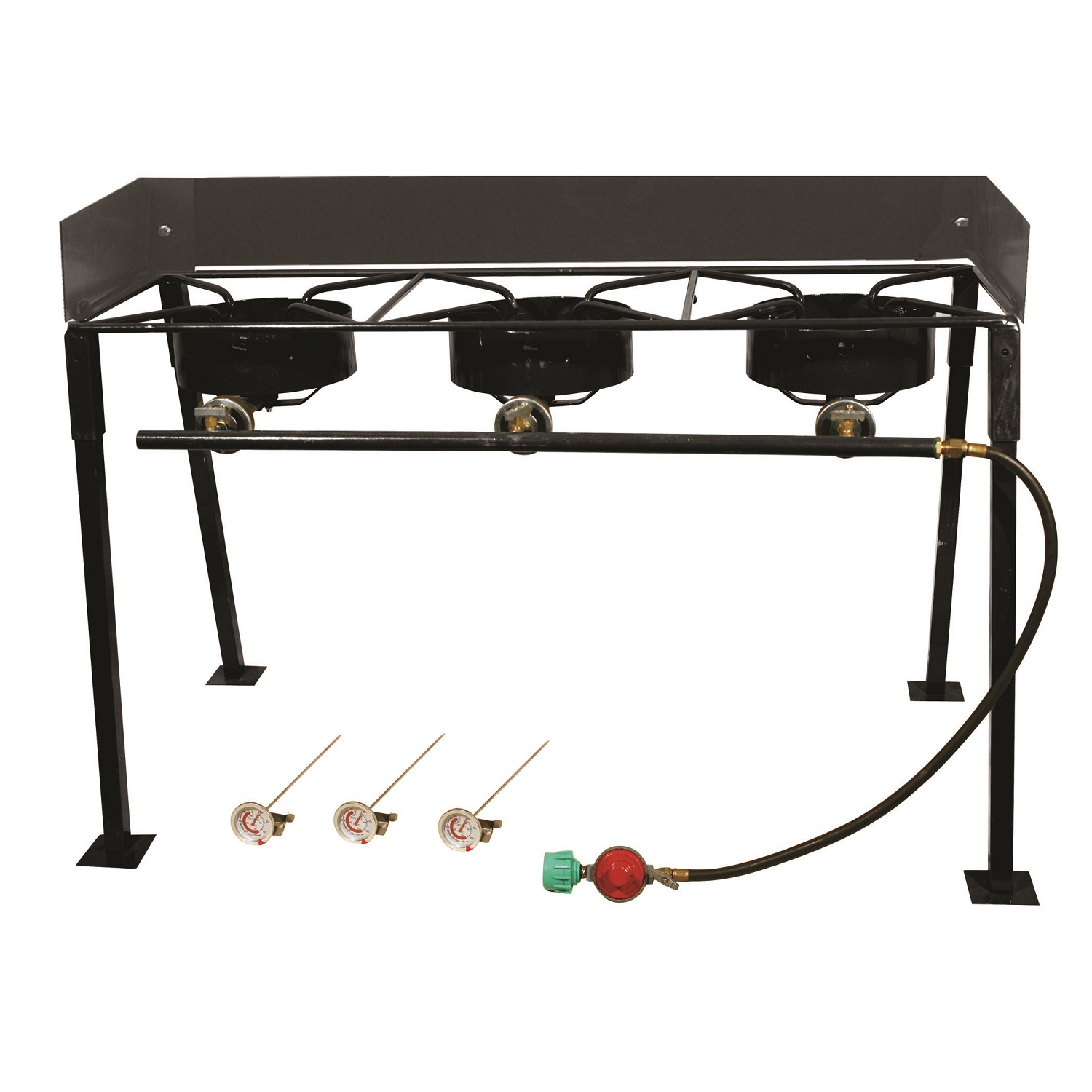 King Kooker Portable Propane 3-Burner Outdoor Camp Stove with Detachable Legs