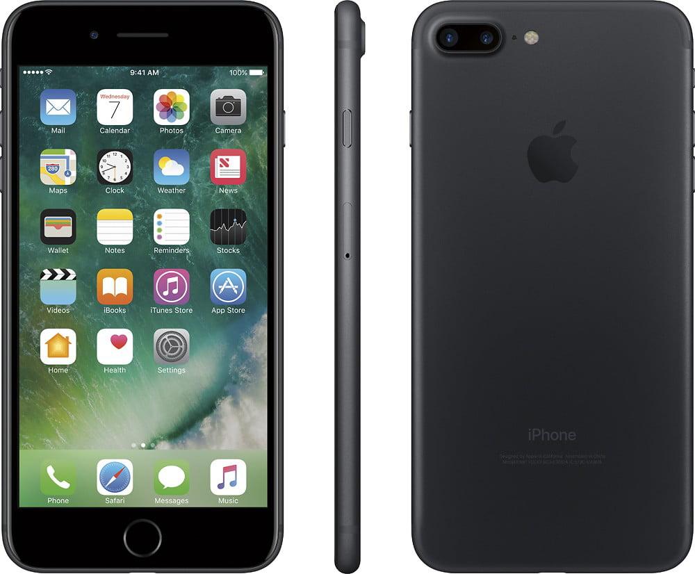 Apple iPhone 7 Plus 128GB Unlocked GSM 4G LTE Quad-Core Smartphone w/ Dual  12MP Camera - Black (Used)