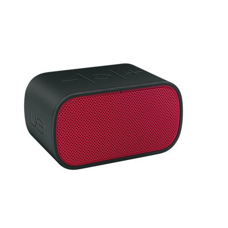 Logitech Ultimate Ears Mini Boom Speaker System – Battery Rechargeable – Wireless Speaker(s) – Red, Black 984-000400