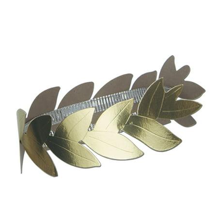 Club Pack of 36 Gold Roman Laurel Wreath Headband Costume Accessories](Roman Headband)