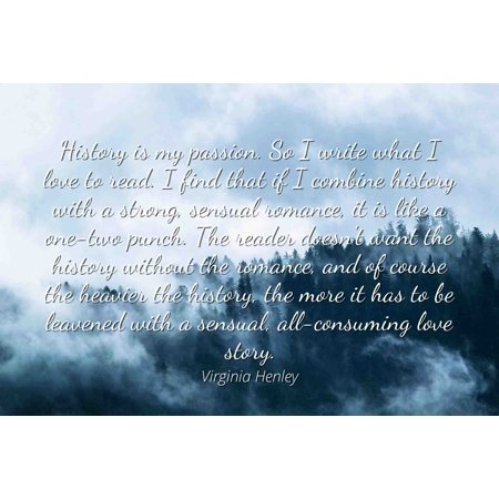 Virginia Henley Famous Quotes Laminated Poster Print 24x20