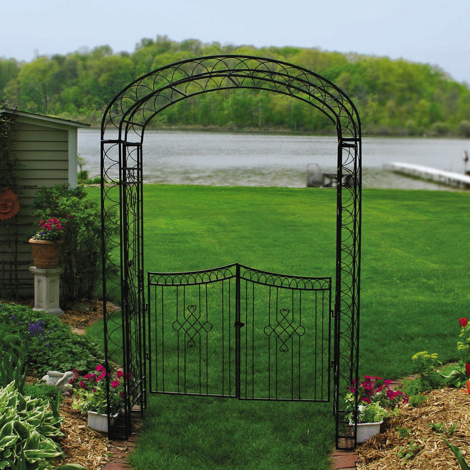 Simple Garden Arbor With Gate This Pin And More On By Intended Design