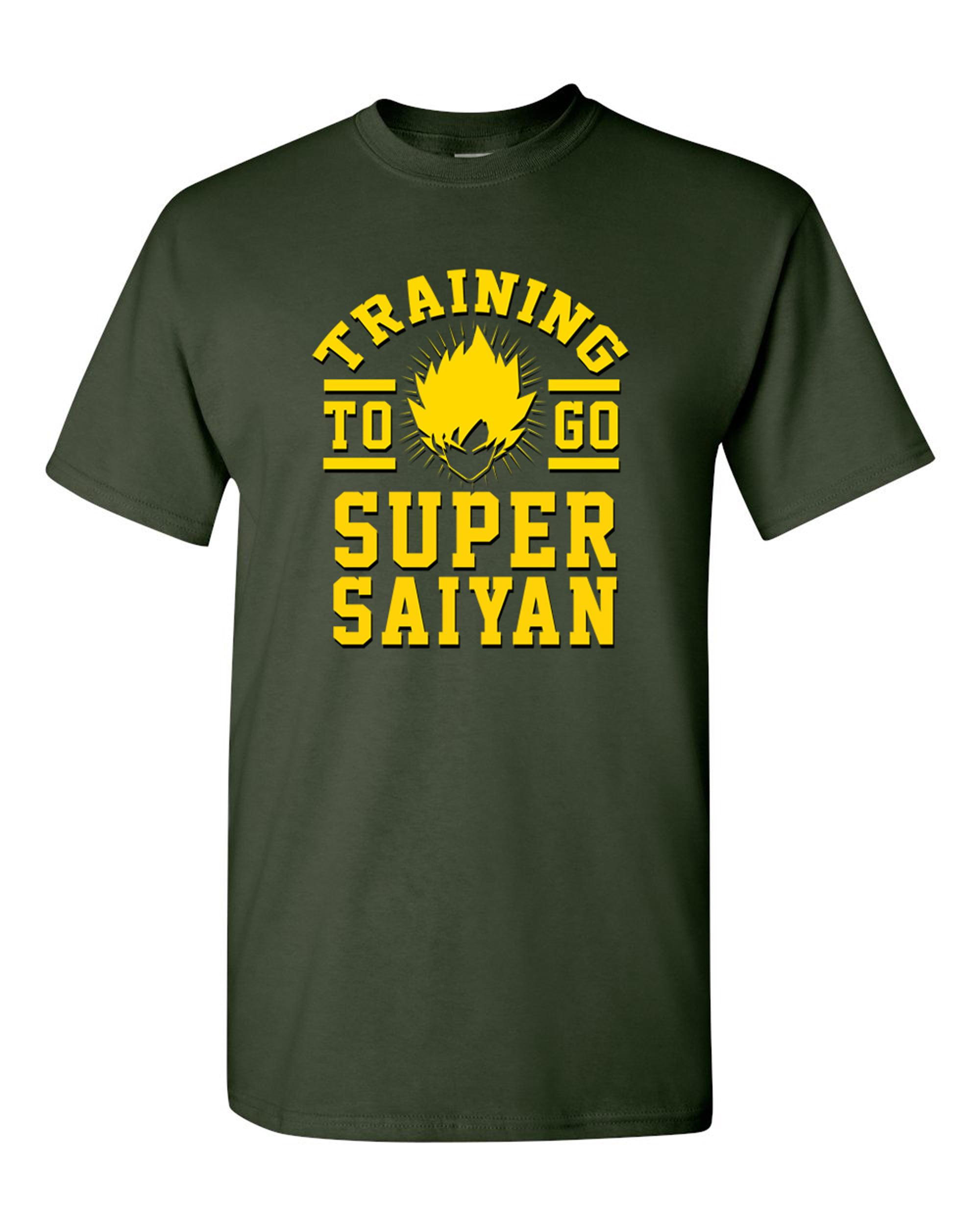 Ladies Training To Go Super Saiyan Gym Workout Anime Funny Parody DT T-Shirt Tee