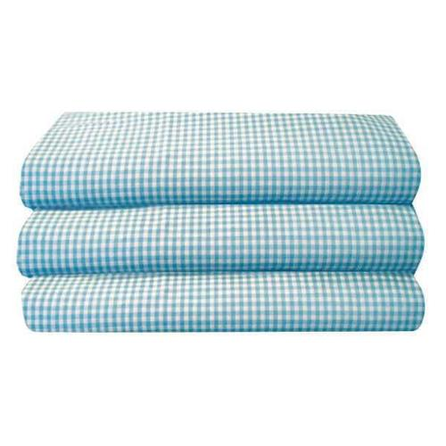 FOUNDATIONS CS-SS-BG-12 Cot Sheet, Standard, Gingham, PK 12