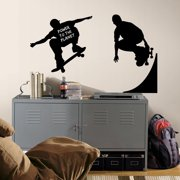 RoomMates Chalkboard Skaters Chalk Peel and Stick Chalkboard Wall Decals