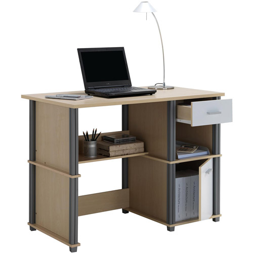 Techni Mobili Student Desk with Drawers, Natural/White
