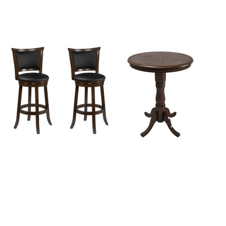 Outstanding Woodgrove Bistro Set In Black And Dark Brown Ncnpc Chair Design For Home Ncnpcorg